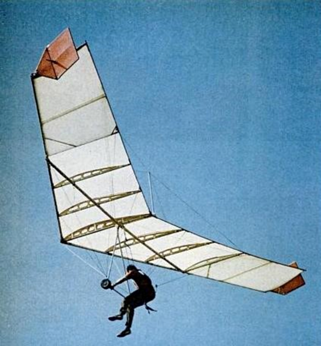 My son Matt flying Dad's Skysail in early 1970's